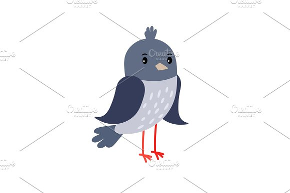 Pigeon Cartoon Bird Icon