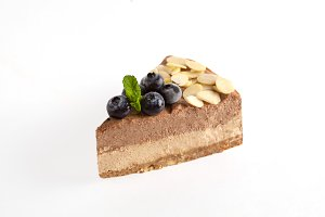 Vegan raw cheesecake, isolate