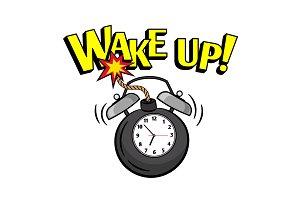 Wakeup bomb clock