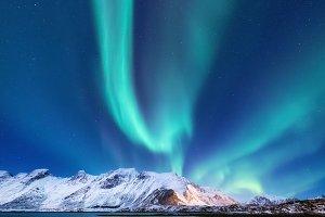 Northen light landscape