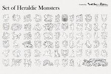 Set of Heraldic Monsters