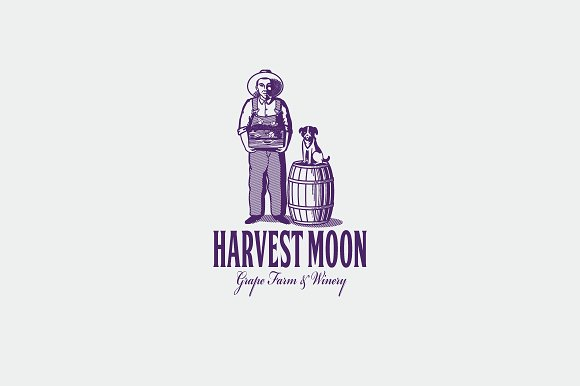 Harvest Moon Logo Template
