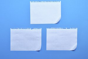 three blank sheet of paper