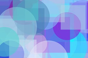 Abstract violet blue circles squares illustration background