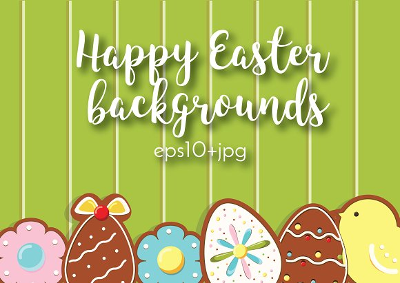Easter Backgrounds With Cookies
