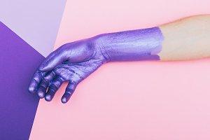 hand. ultra violet