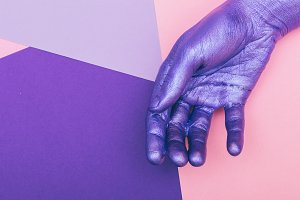 hand. ultra violet concept