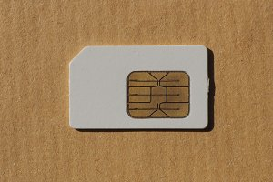 SIM card used in phones