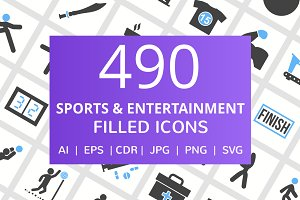 490 Entertainment Filled Icons
