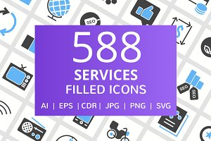 588 Services Filled Icons