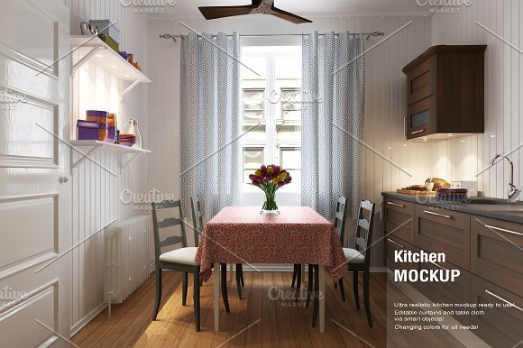 Kitchen Curtain Mock-up