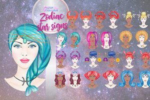 Zodiac star signs collection