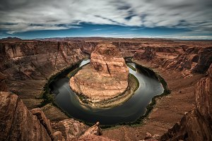 Horseshoe Bend and Colorado river
