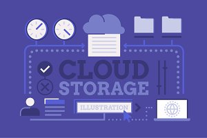 Cloud Storage Illustration