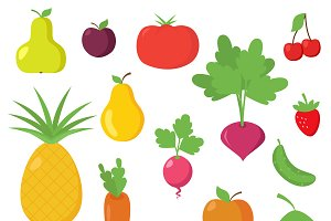 Fruit and Vegetable Vectors/Clipart