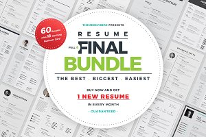 Resume/CV Full & Final Bundle