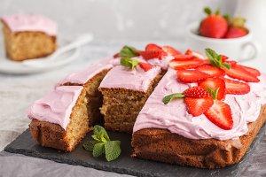 Strawberry pink cake