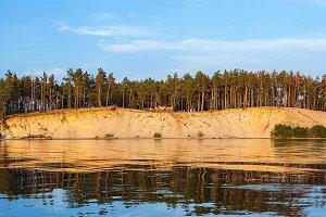 sandy shore the Kiev Sea