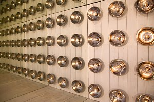 background of round lamps on the wall