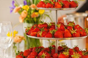 Strawberries on the table.