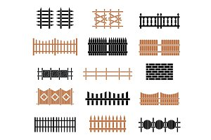 A large set of fences.