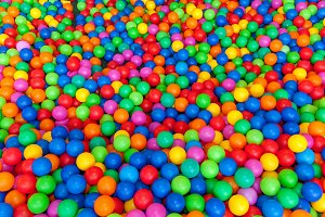 Pool with bright balls background