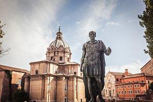 Julius Caesar statue in Rome