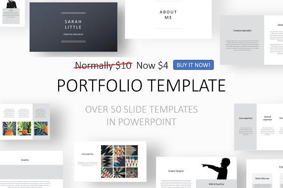 Portfolio Template Presentation Templates Creative Market