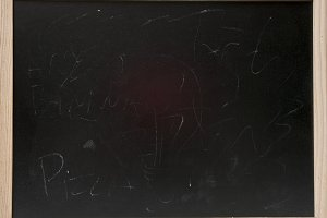 blackboard with frame