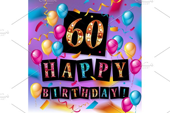 60 Happy Birthday Background