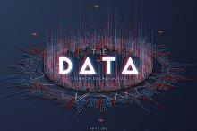 3D Big Data Backgrounds vector