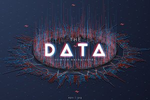 3D Big Data Backgrounds vector