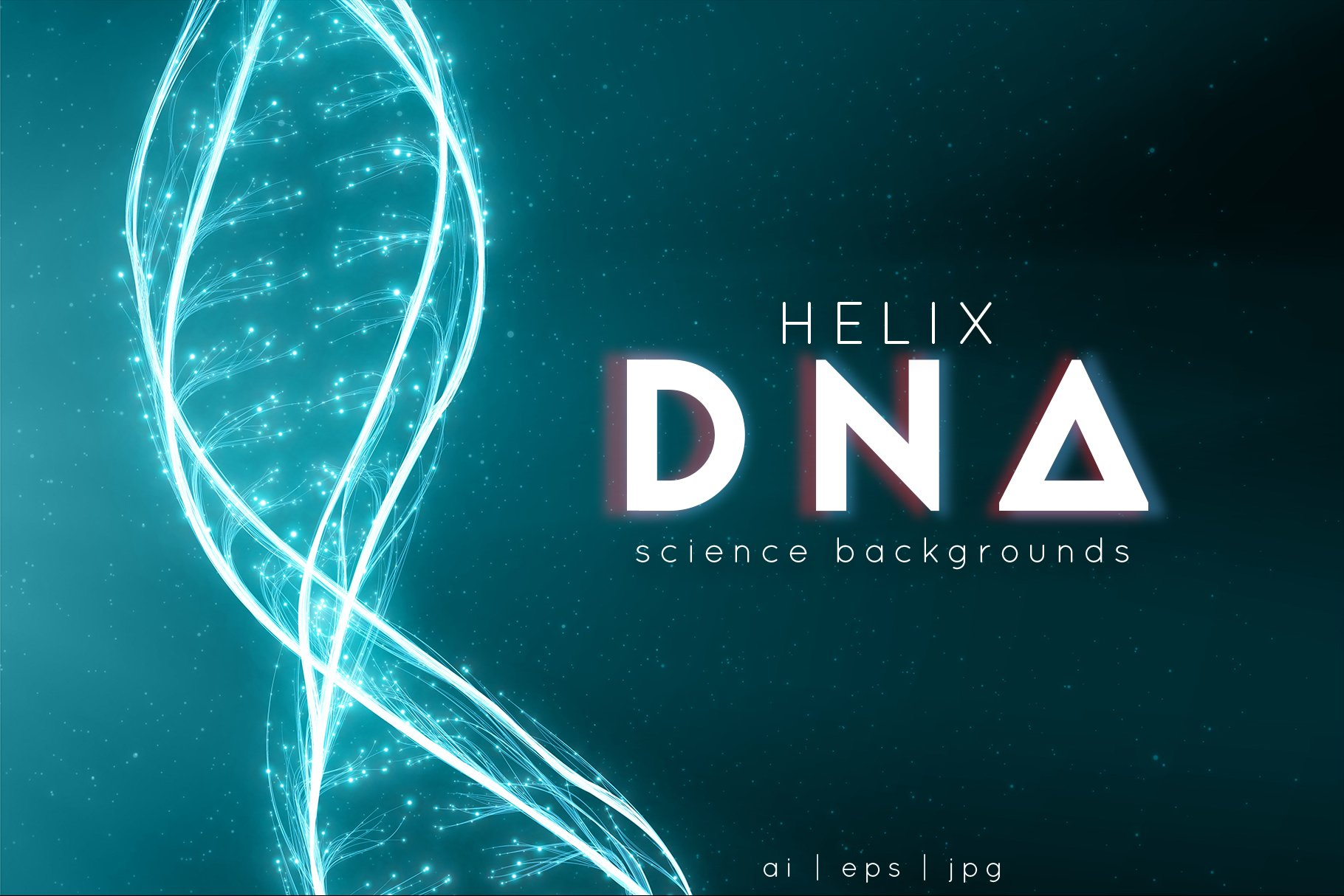 dna helix vector graphic objects creative market