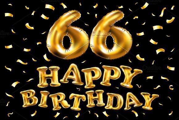 Vector Happy Birthday 66 Balloon