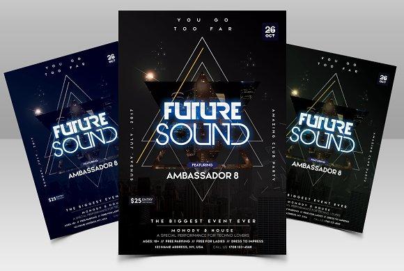 Future Sound Futuristic PSD Flyer