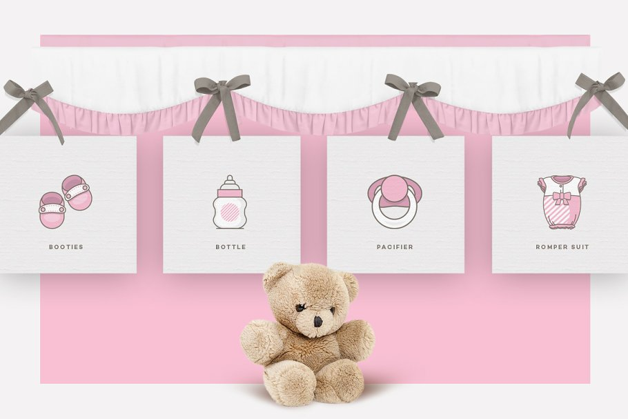 Baby Girl & Boy Icon Pack in Baby Icons - product preview 1