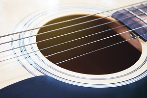 acoustic guitar in vintage style