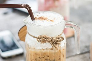 coffee smoothies in glass