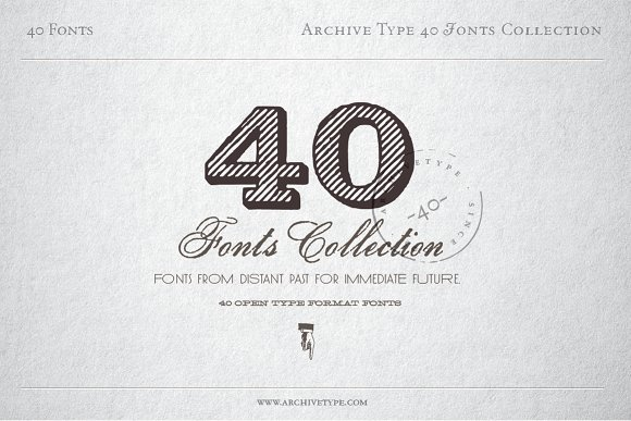40 Archive Fonts Collection
