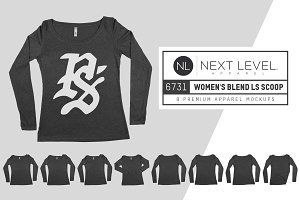 Next Level 6731 Womens Scoopneck Tee