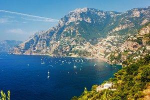 Amazing view on Positano coast
