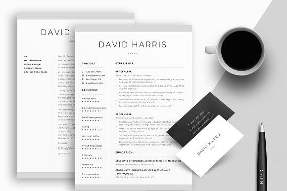 Clerk Resume CV Cover Letter .