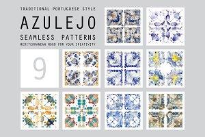 Portuguese azulejo tiles set