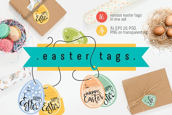 Easter Tags Collection