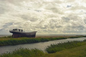 An old fishing boat on the Baltic coast