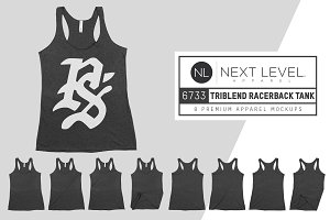 Next Level 6733 Womens Tri Racerback