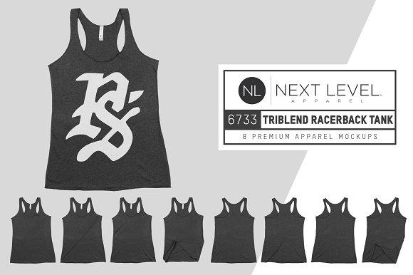Next Level 6733 Womens Tri Racerback