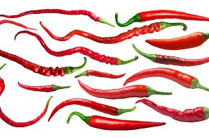 Cayenne type peppers