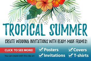 Tropical summer. Wedding and more