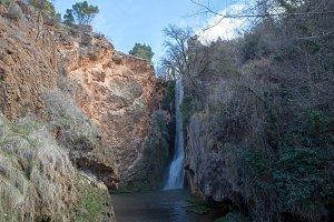 Waterfall in the stone monastery